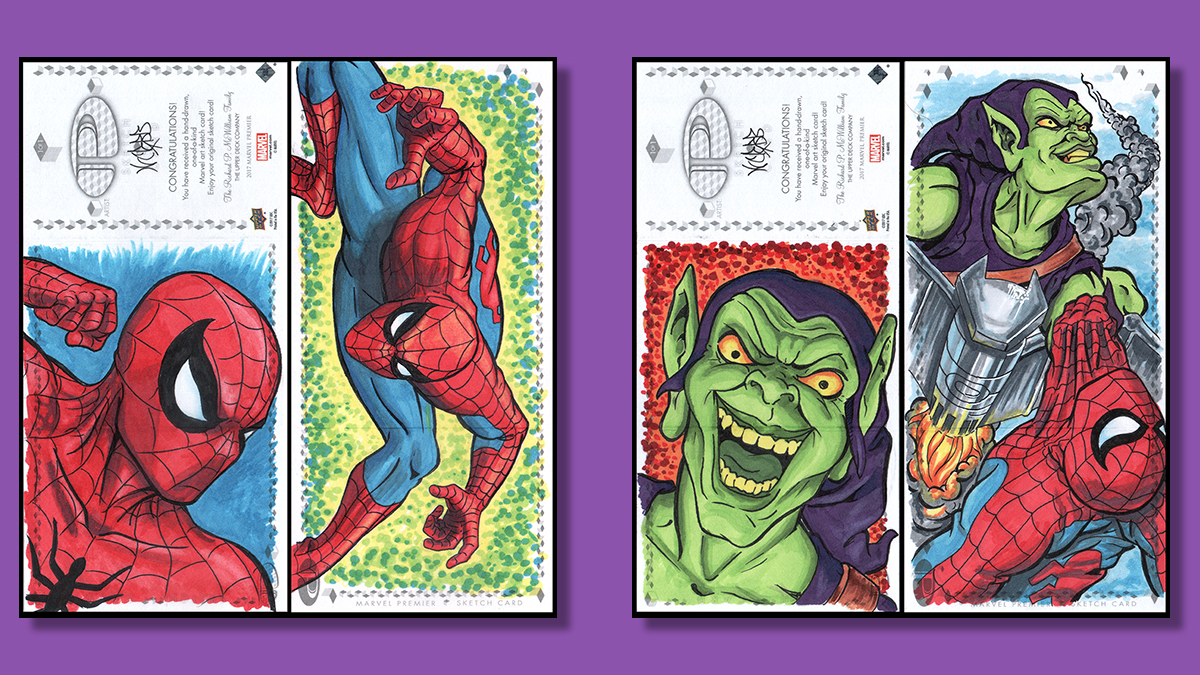Marvel comics Sketchcards