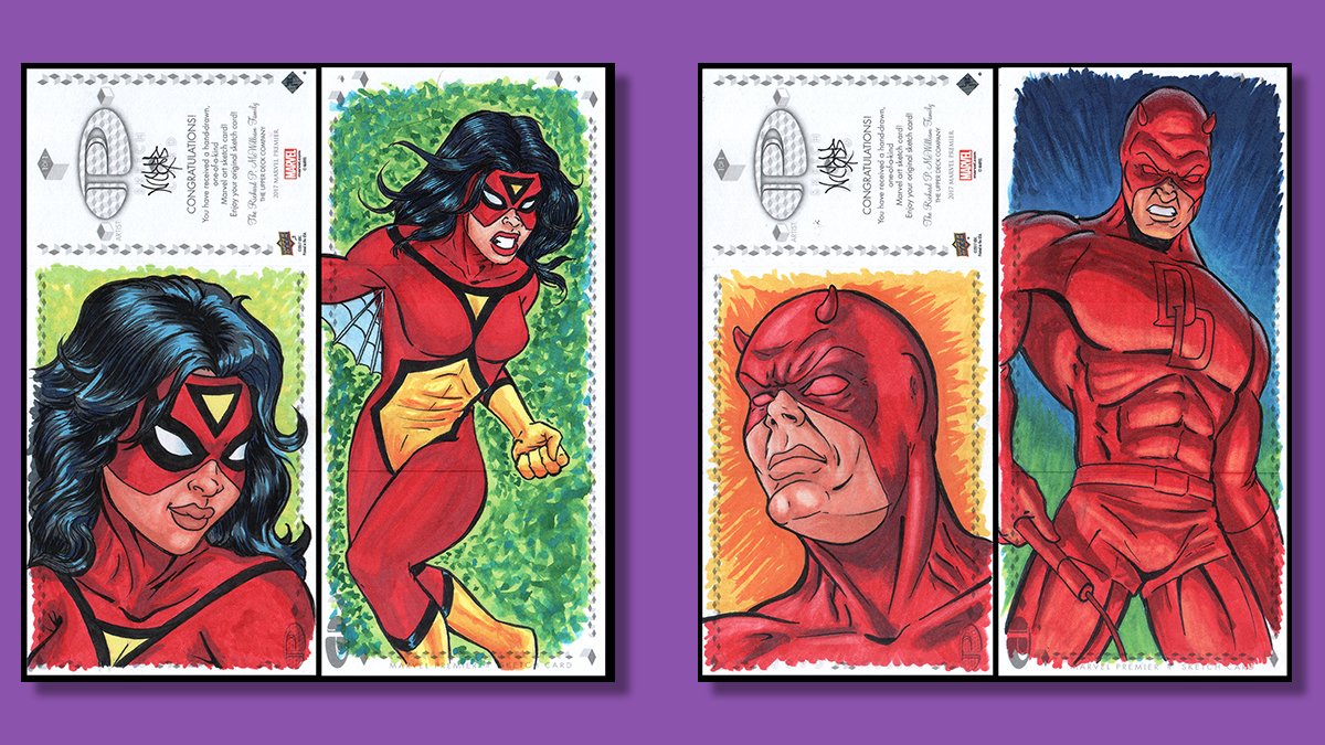Marvel comics Sketch cards
